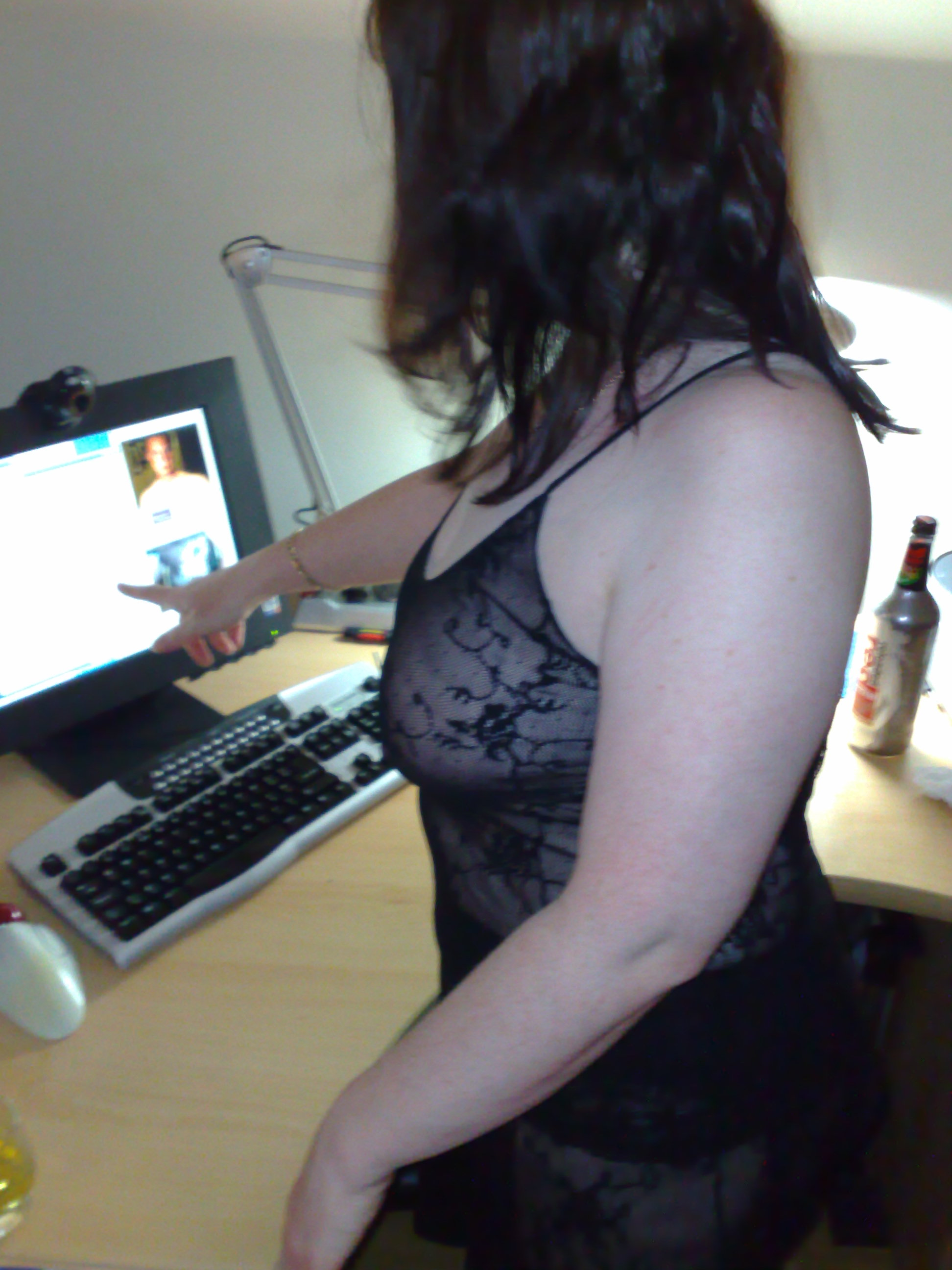 Wife On Webcam