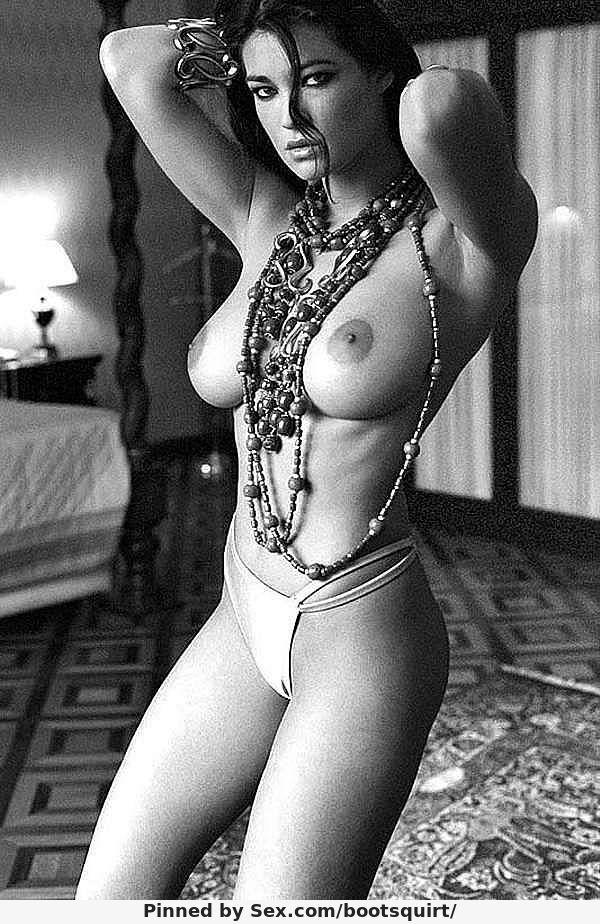 Manuela Arcuri white shiny panties