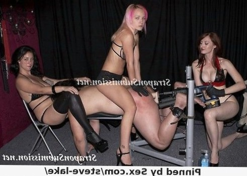 triple dominatrix strapon gangbang
