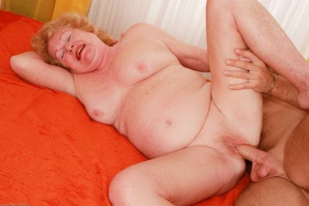 fat grandma taking a hard dick in her shaved muff
