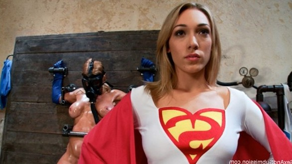 Lily LaBeau (Supergirl) gets restrained and fucked hard in a superhero parody