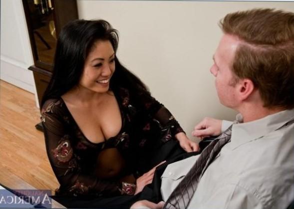 Sexy hot Asian job interview
