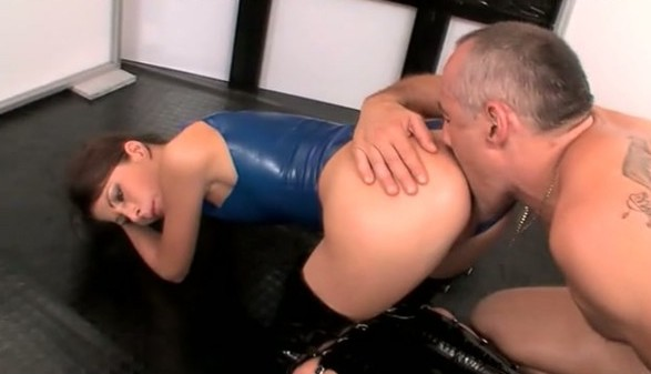 Stefany Amore Enjoys Getting Pounded In Her Skimpy Latex Suit