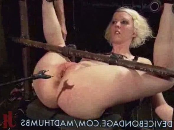 Blonde Slave In A Painful Punishment With Anal Fucking