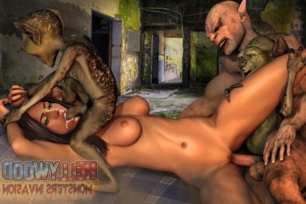 Hellywood Monster Invasion: Monster dicks sucking celebs…